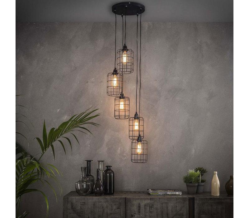 Industriële hanglamp 5L Troy