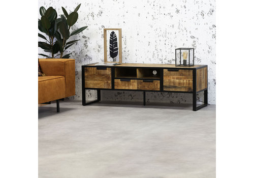 Industrieel TV-meubel Xavi 45x150x50 cm