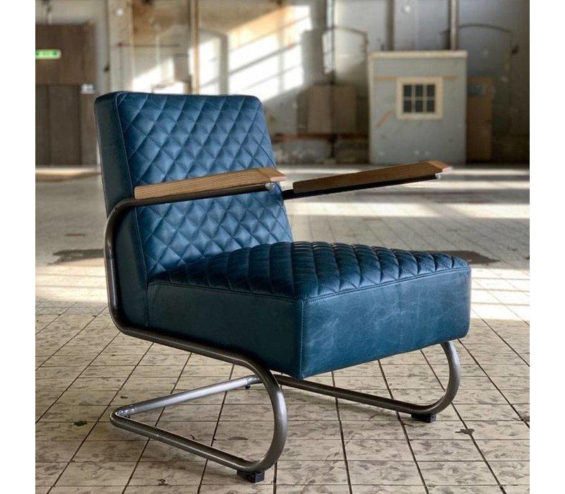 Industriële fauteuil Miley blauw