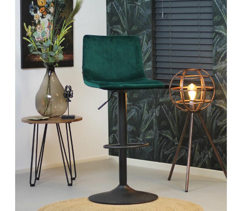 Velvet barkruk Frenkie groen 59-79 cm