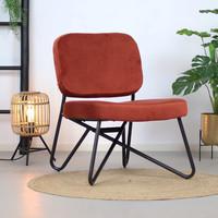 Moderne fauteuil Jill Velvet koper