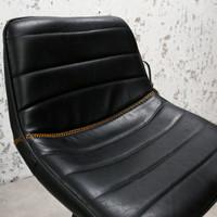 Industriële barkruk Kenton Zwart Premium
