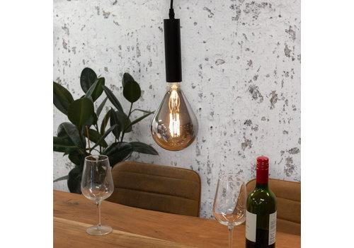 Industriële hanglamp Miles smokey glass