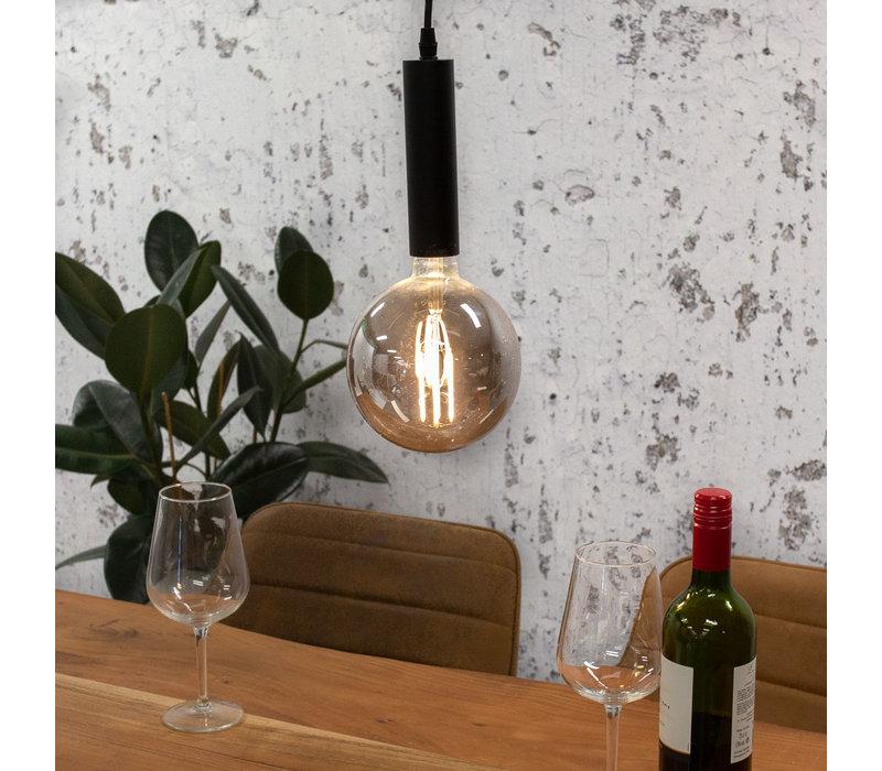 Industriële hanglamp Lewis smokey glass