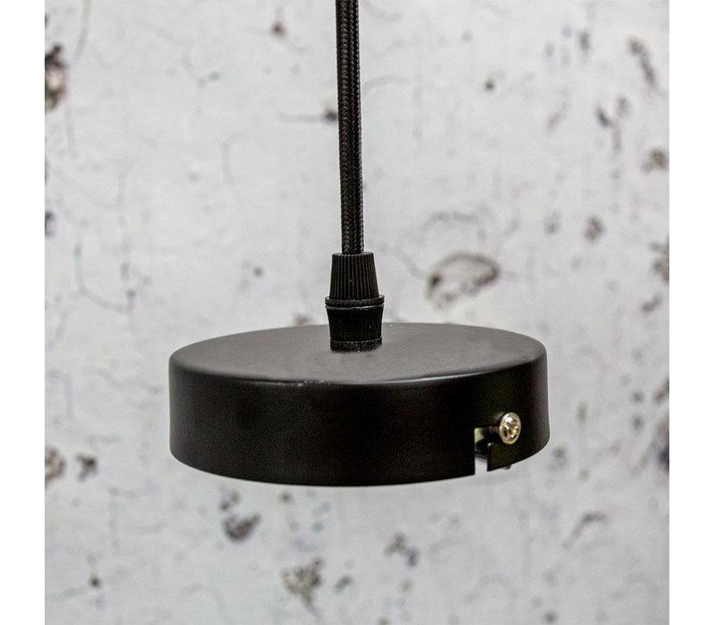 Industriële hanglamp Katie smokey glass