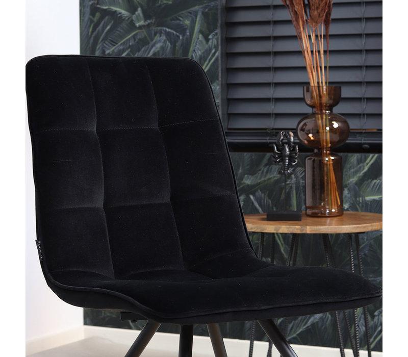 Moderne eetkamerstoel Lisa luxury velvet zwart