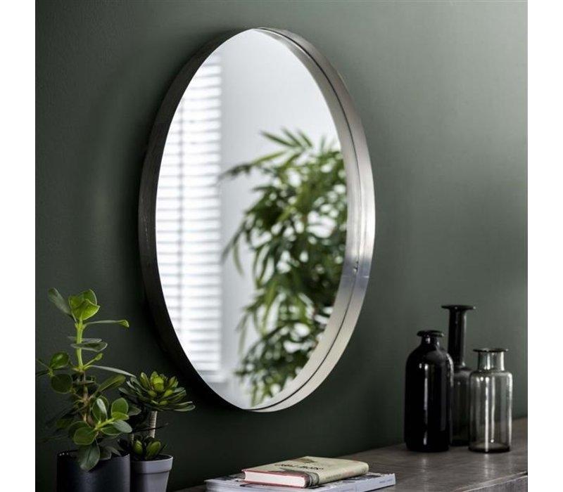 Spiegel rond Tess zilver 75 cm