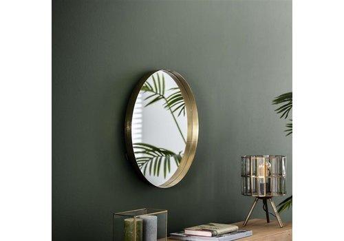Spiegel rond Tess goud 50 cm