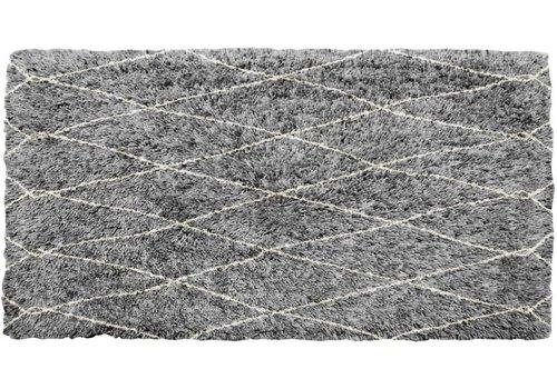 Vloerkleed Grijs Geruit Lina 160x230 cm