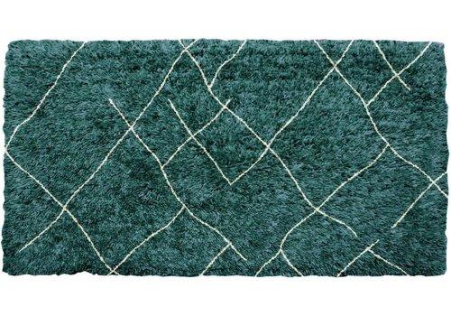Vloerkleed Groen Blauw Geruit Lina 160x230 cm