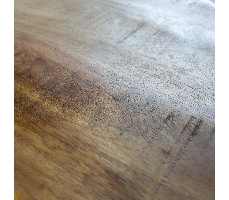 Industriële salontafel rond Yara 80 cm