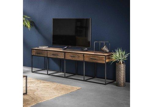 Industriële houten tv-meubel Liam 4 lades