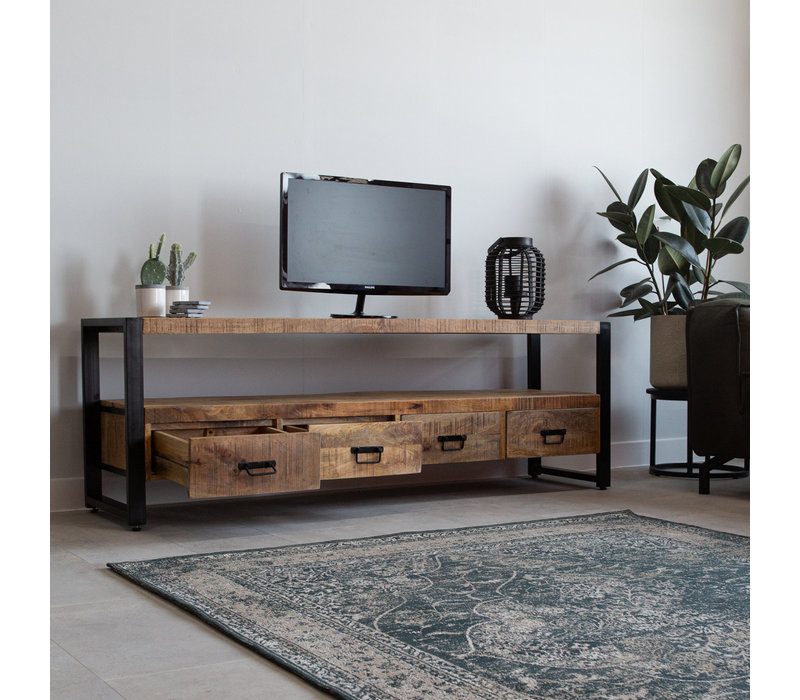 Industrieel TV-meubel Vida Mangohout