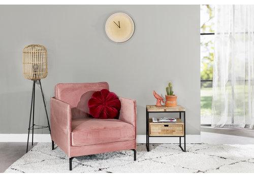 Fauteuil velvet roze Peppin