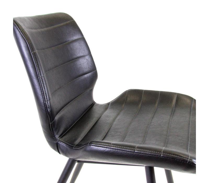 Industriële barkruk Maren zwart Premium