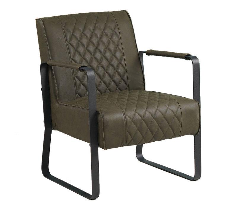 Industriële fauteuil Peter Groen