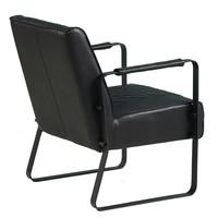 Industriële fauteuil Peter zwart