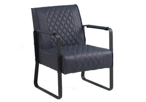 Industriële fauteuil Peter blauw