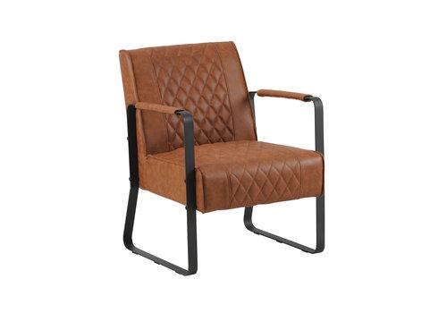 Industriële fauteuil Peter Cognac