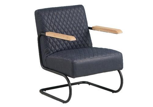 Industriële fauteuil Lars blauw