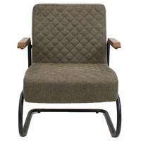 Industriële fauteuil met arm Mustang stof grijs