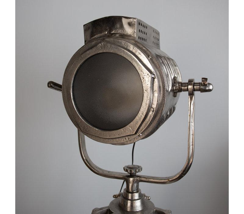 Industriële vloerlamp Gabe nickel