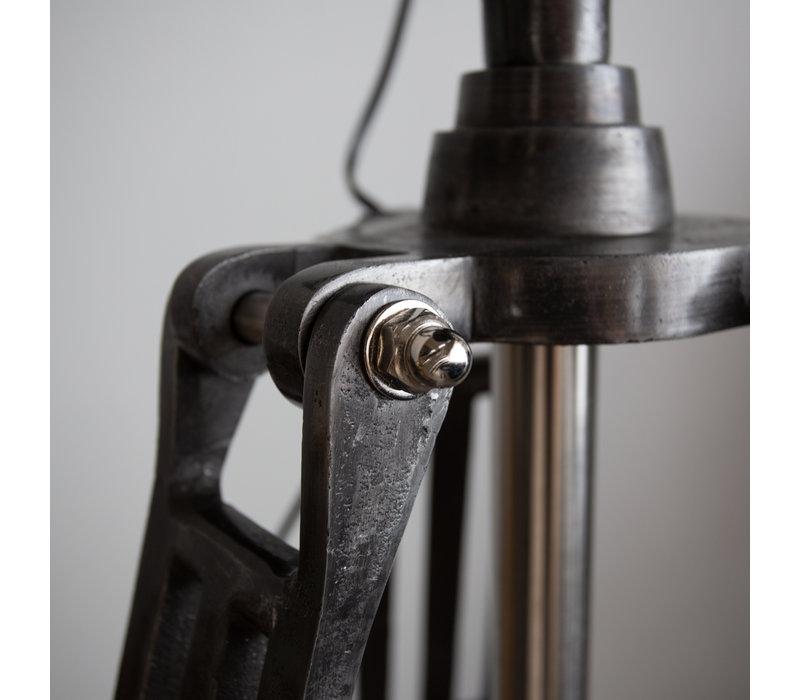Industriële vloerlamp Gabe fade grey