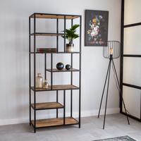 Industriële boekenkast Sparrow mango hout 80x188