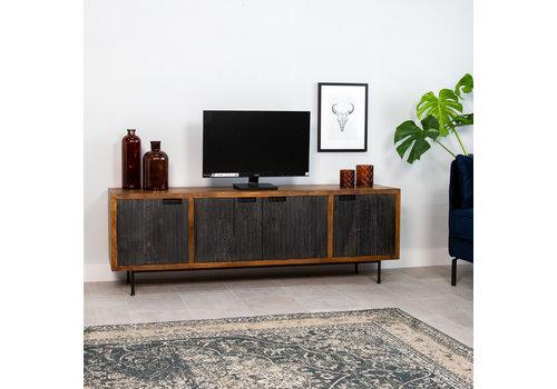 Industrieel TV-meubel Felix mangohout 4 deurs