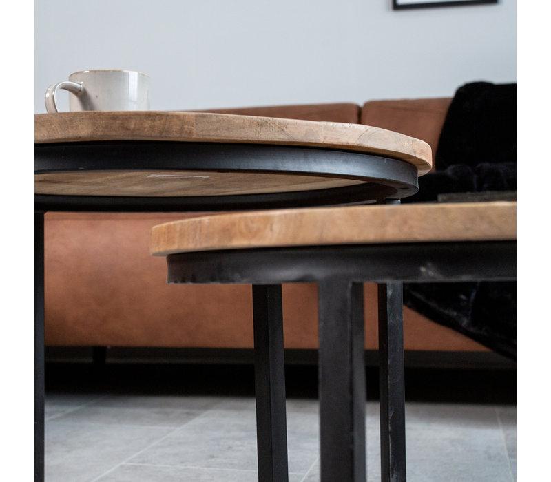 Industriële salontafelset Calla
