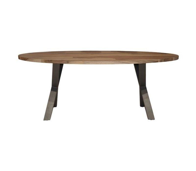 Ovale Eettafel Daya teakhout 200x105 cm