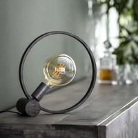 Tafellamp Ø30 cm Industrieel Rond Winster - Oud Zilver