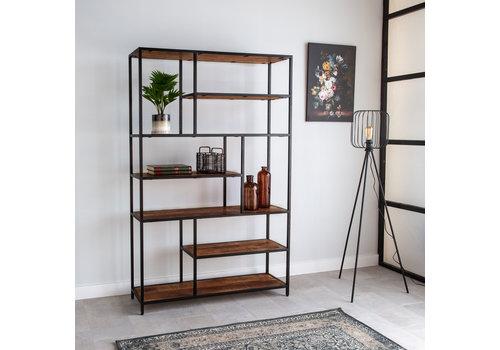 Industriële boekenkast Sparrow mango hout 120 x 188
