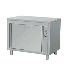 Wärmeschränke, Edelstahl, mit Schiebetüren , Maße: 1200 x 700 x 850 mm