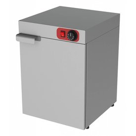 Wärmeschrank,Edelstahl,1 Tür,verstellbarer Zwischenboden ,Maße:400 x 460 x 570 mm, 400 Watt ,230 Volt,Kapazität für 30 Teller ,Durchmesser 350 mm ,Thermostat +30/90 Grad Celsius