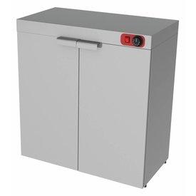 Wärmeschrank,Edelstahl,2 Türen ,verstellbarer Zwischenboden ,Maße:800 x 460 x 870 mm, 1500 Watt ,230 Volt,Kapazität für 120 Teller ,Durchmesser 350 mm ,Thermostat +30/90 Grad Celsius