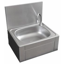 Handwaschbecken mit Kniebedienung ∙ 400 x 400 x 260 mm ∙ Becken: 340 x 130 mm ∙ Kaltwasser Anschluss
