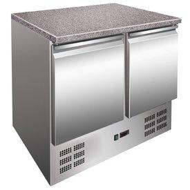 GGG Kühltisch mit Granitplatte 2 Türen