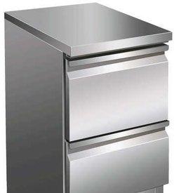 GGG Kühltisch mit 2 Schubladen 109 Liter