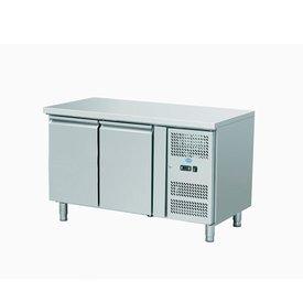 GGG Tiefkühltisch Serie MAISTER minus mit Aufkantung 2 Tür 310 Liter