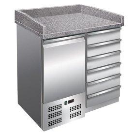 GGG Pizzakühltisch 111 Liter, 1 Tür, 6 Schubl