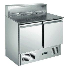 GGG Pizzakühltisch 176 Liter, 5x 1/6 GN, 2 Türen