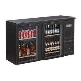 GGG Flaschenkühltisch mit Glastüren  Farbe: schwarz 2 Glastüren