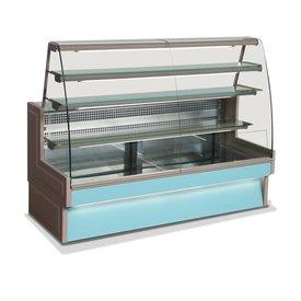 Kühltheke  mit gebogenem Hartglas Spitzenqualität – made in EUROPA