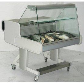 Fahrbare Fischtheke Maße: 1074x1114x1105mm