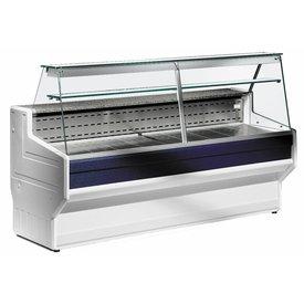 Kühltheke mit Glaszwischenablage und Beleuchtung