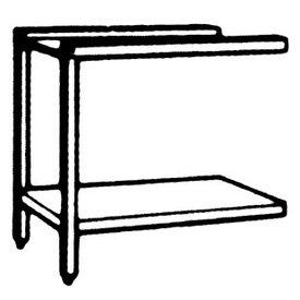 Zu- und Ablauftisch links mit Grundboden und Untergestell  1300 x 520 x 865 mm