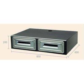 Ausklopfschale Espressomaschinen Unterbau, Abmessungen: 850x600x200H mm