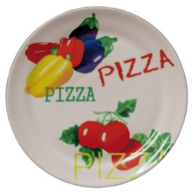 Pizzateller aus robustem Porzellan, Abmessungen: Ø 300 mm