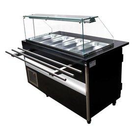 Salattheke  1000 x 1250  x 800 mm    2x 1/1 GN, 1x 2/4 GN